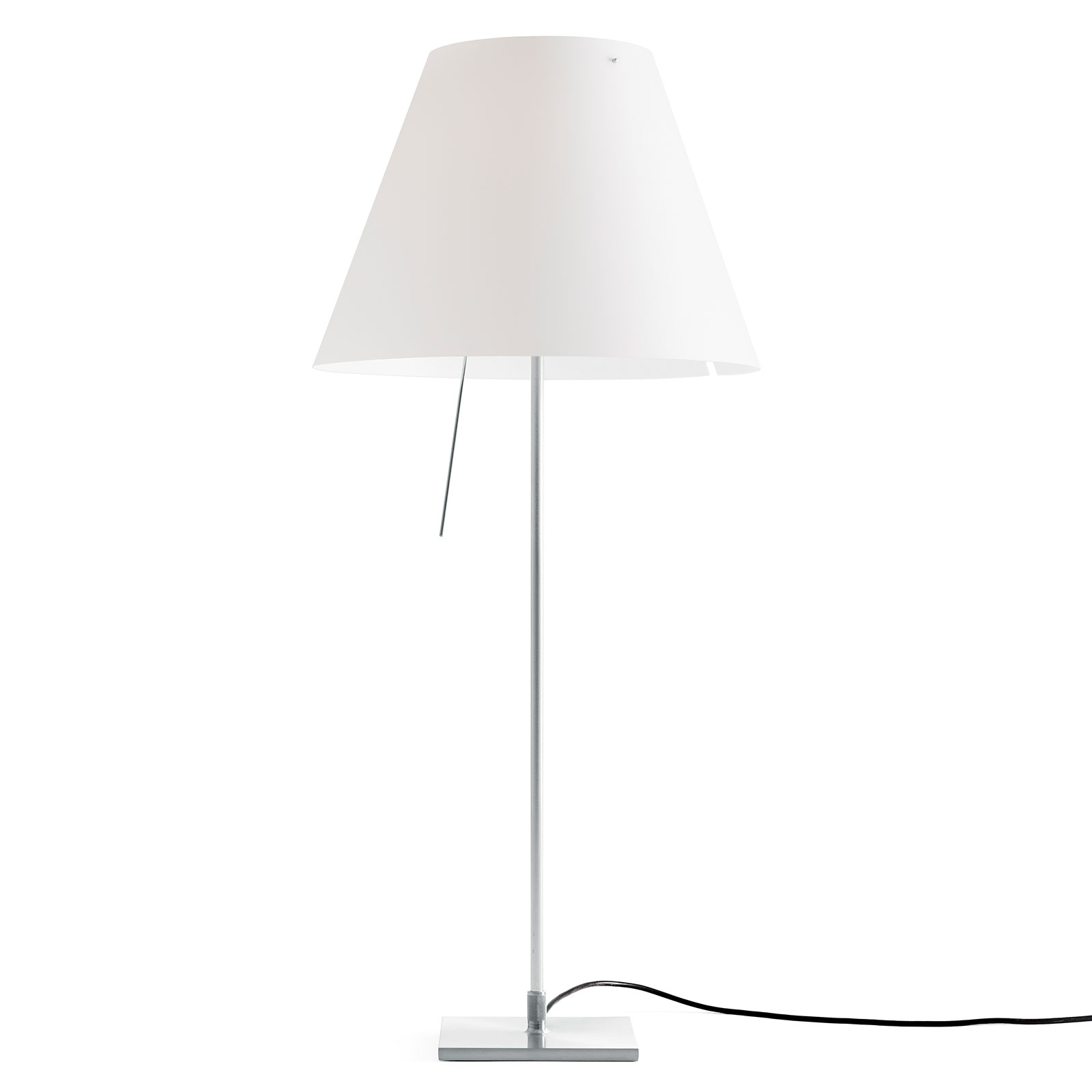 Luceplan Costanza Tischlampe D13if aluminium/weiß