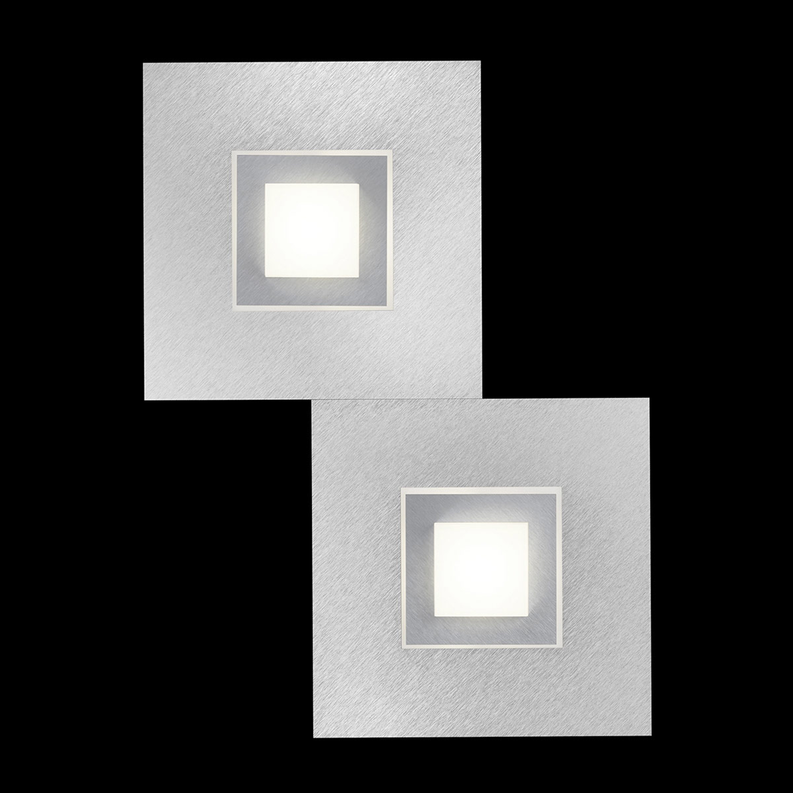 GROSSMANN Karree LED-Wandleuchte, 2fl. titan
