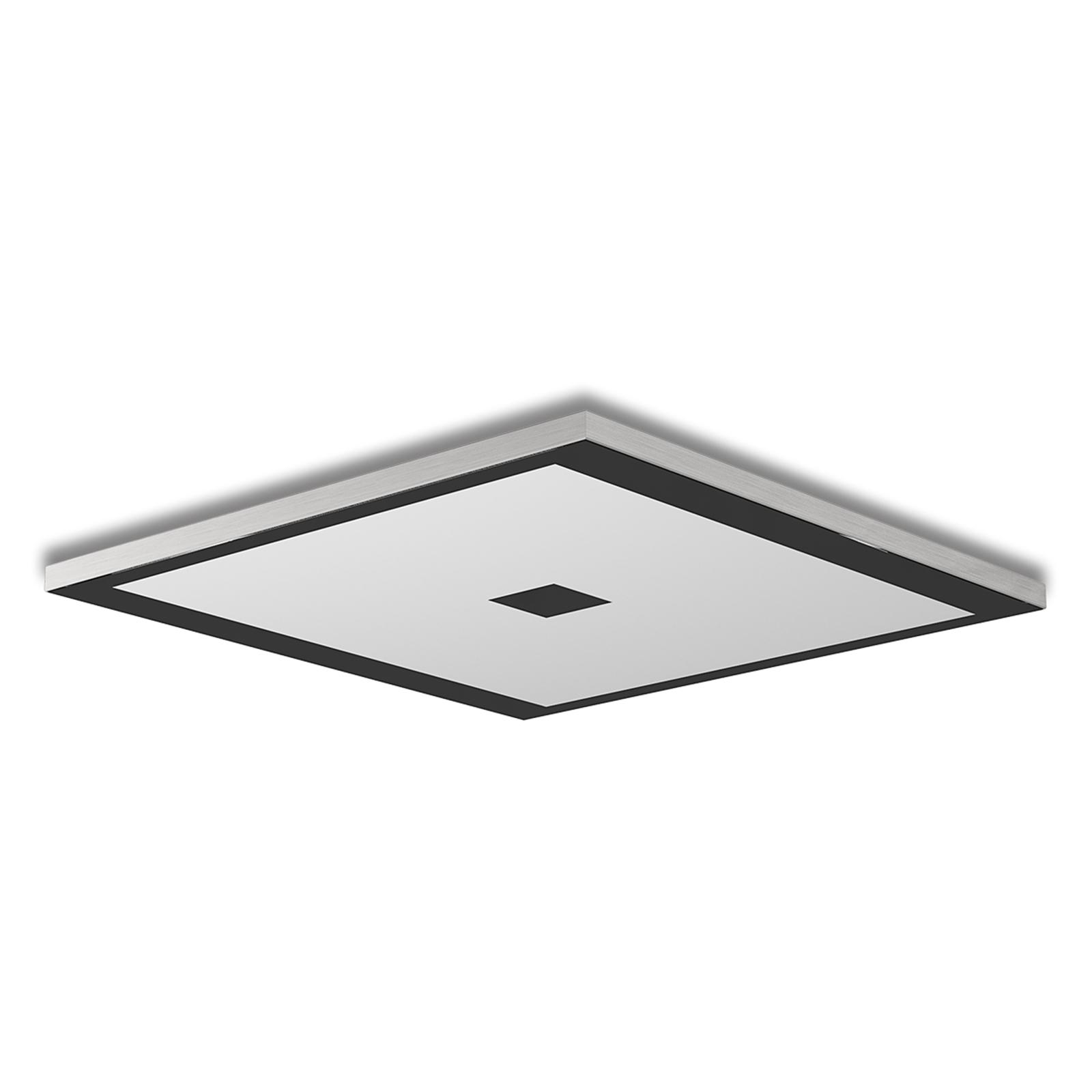 Kvadratisk LED-taklampe Zen - color control