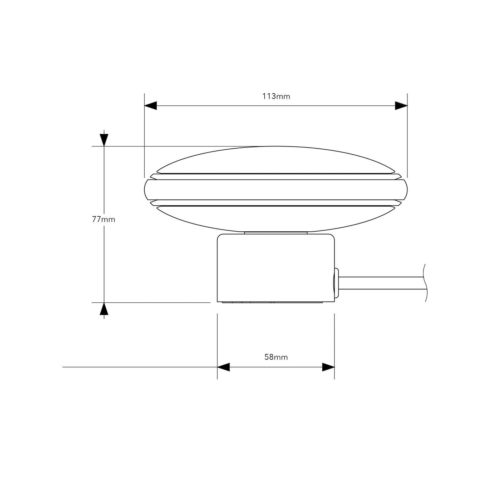 Shade ØS1 mini lampe à poser laiton, socle blanc