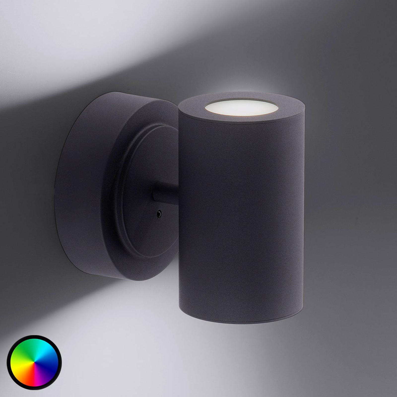 Trio WiZ Sancho LED-vägglampa svart matt