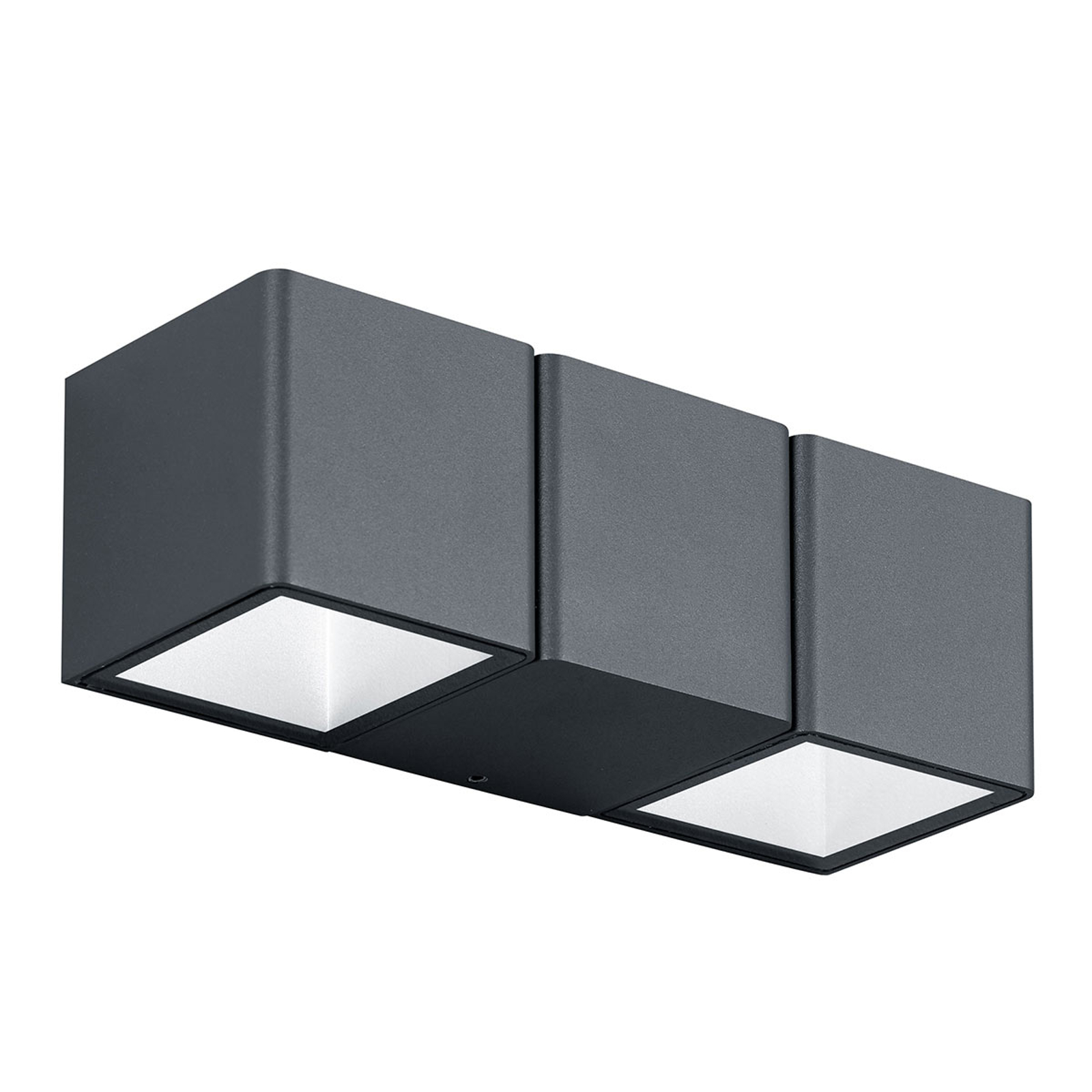 Applique extérieur LED Tessa, 2 lampes, gris foncé