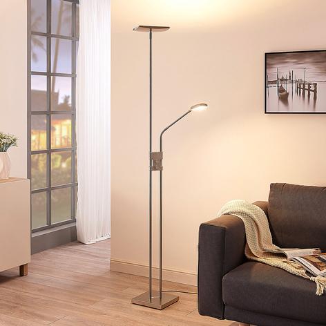 LED-uplighter Jonne met leeslamp, dimbaar, hoekig