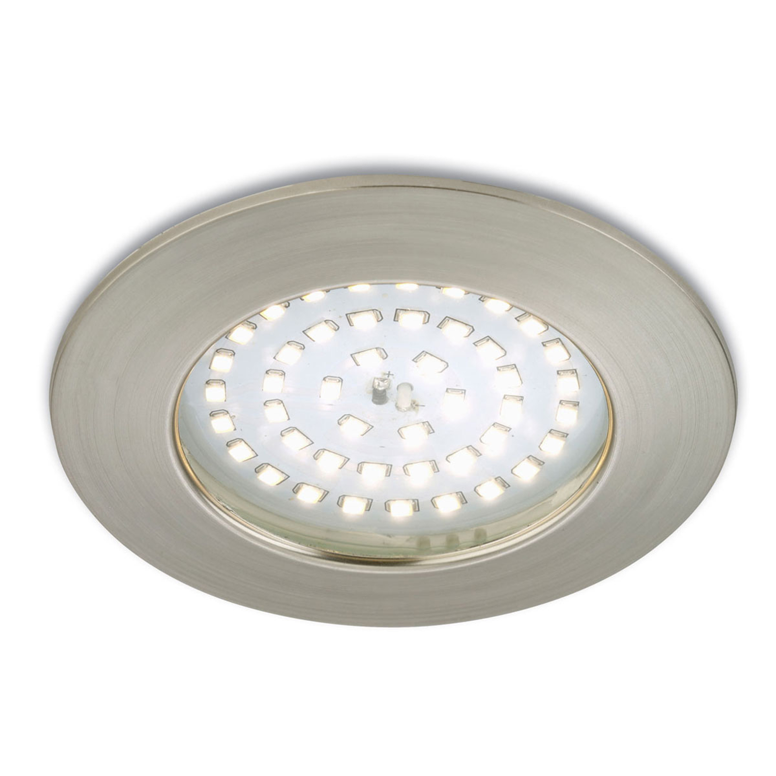 Výrazné LED podhledové svítidlo Paul matný nikl