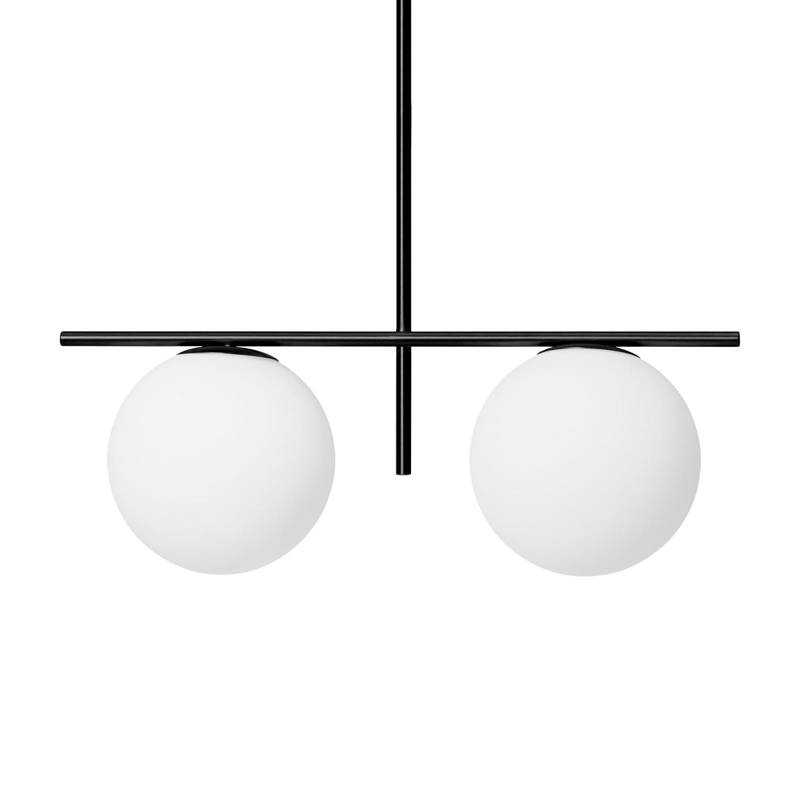 Jugen hængelampe, sort/hvid, 2 lyskilder