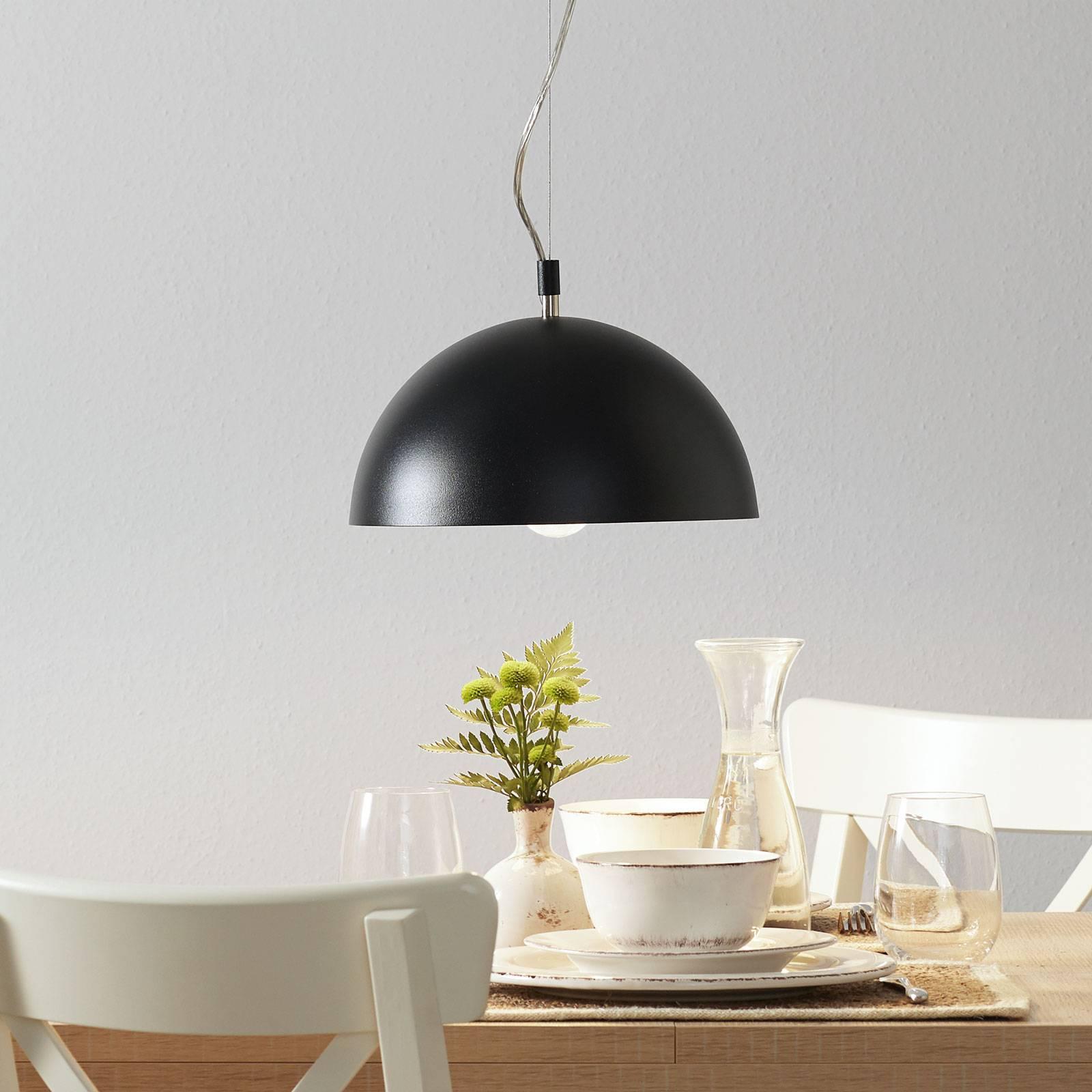 Lucande Maleo lampa wisząca 30cm czarna