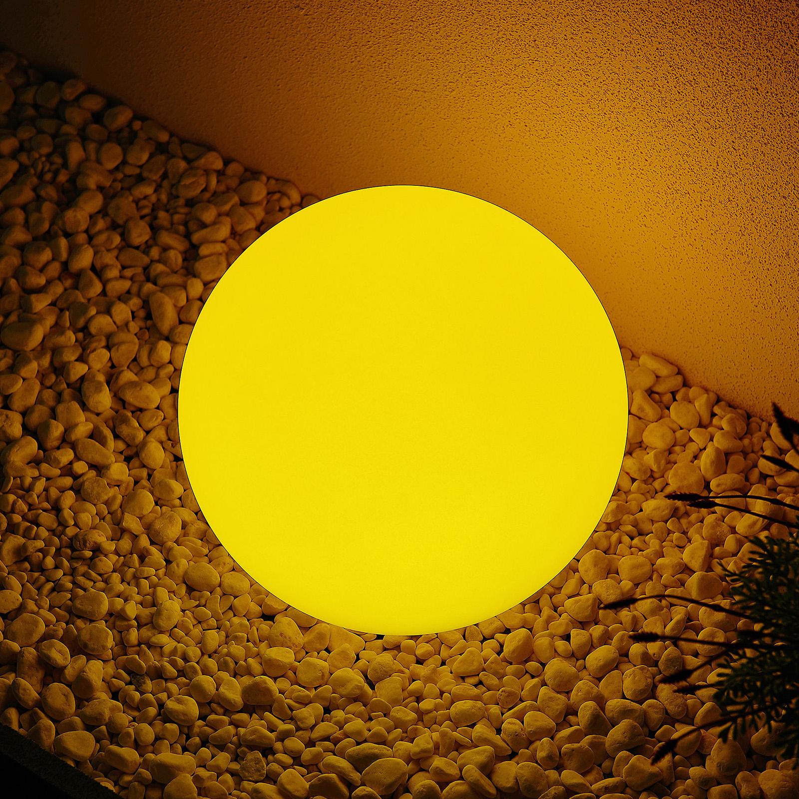 Lindby Yohan RGB-LED-aurinkovalaisin, 30 cm