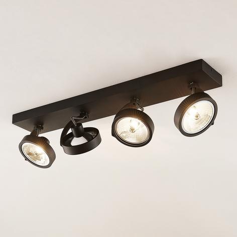 Arcchio Dagur plafonnier à 4 lampes, noir
