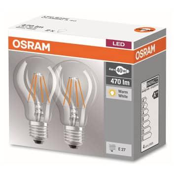 Żarówka LED filament E27 4W 827, zestaw 2 szt.