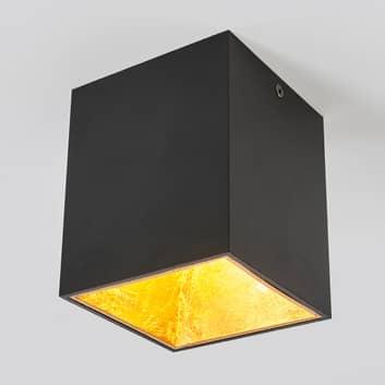 Stropní LED svítidlo Juma, čtvercové, černé/zlaté