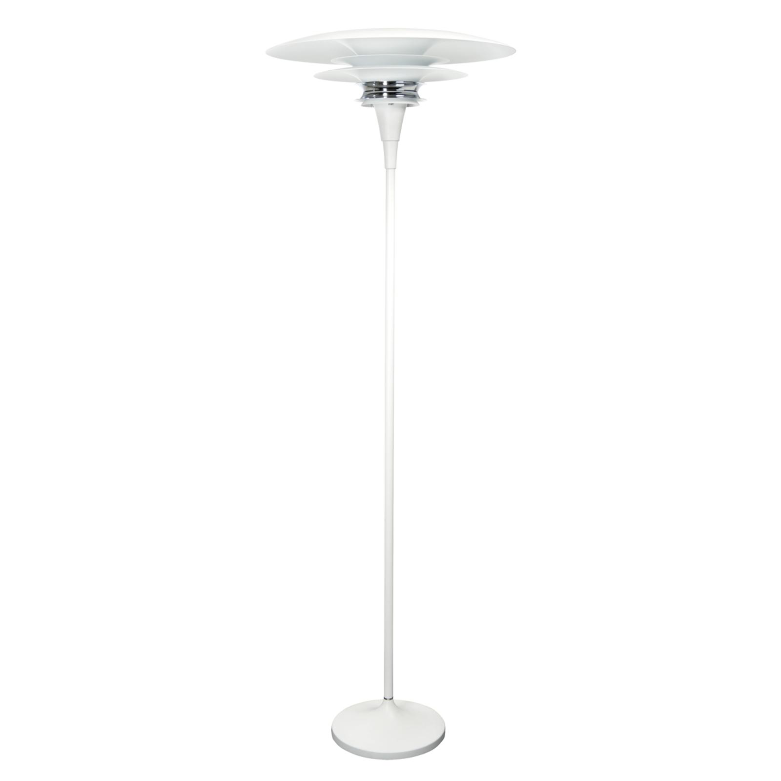 Diablo gulvlampe i hvid - integreret lysdæmper