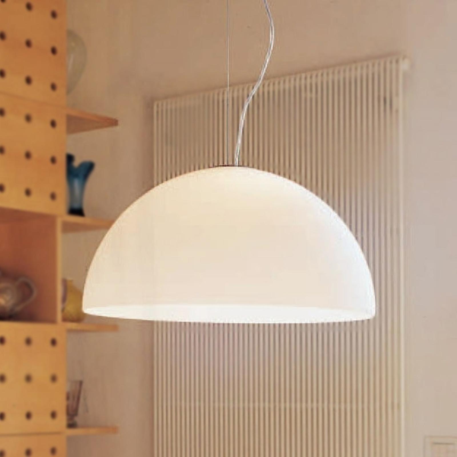 Oluce Sonora - opaalglas hanglamp, 50 cm