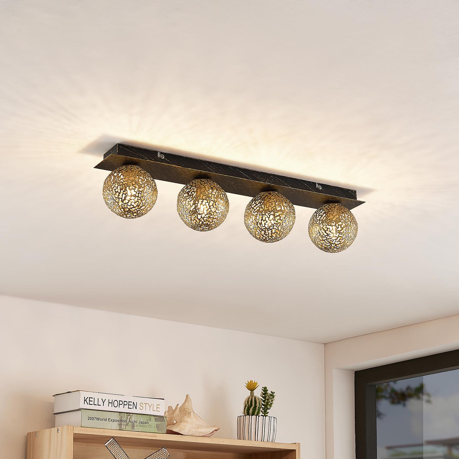 Lucande Evory lampa sufitowa, kątowa, 4-punktowa