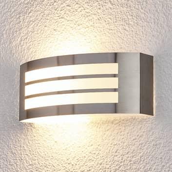 Elegante lámpara pared ext Raja con diseño a rayas