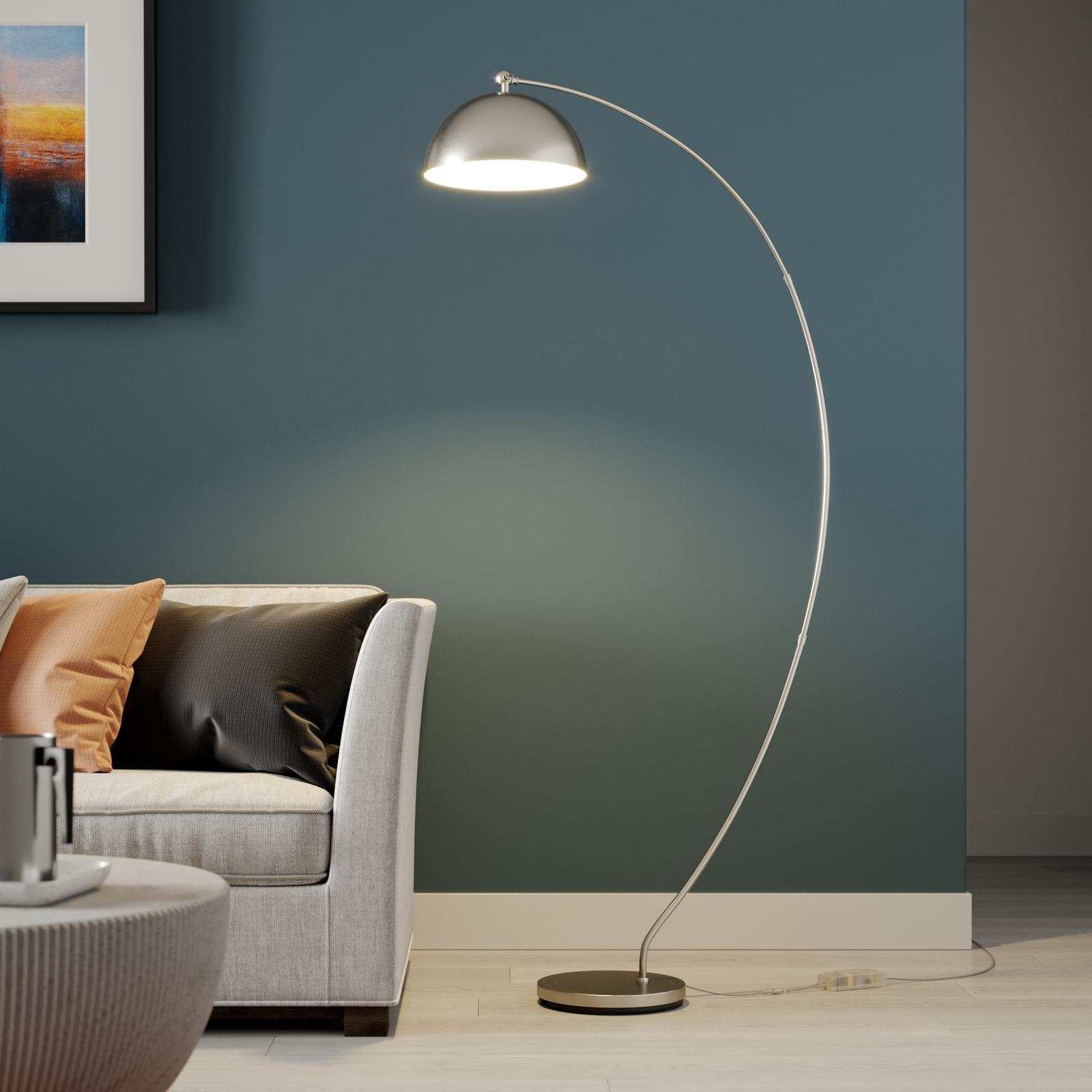 Lindby Zara LED-buelampe med dæmper i foden