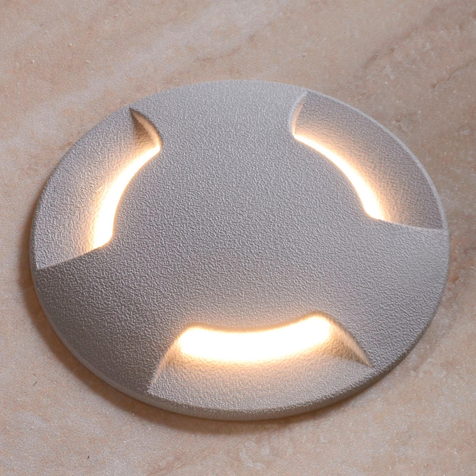 LED-uppovalaisin Ceci 120-3L harmaa CCT