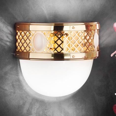Lámpara de pared semicircular ANTIGUA VIENA, latón