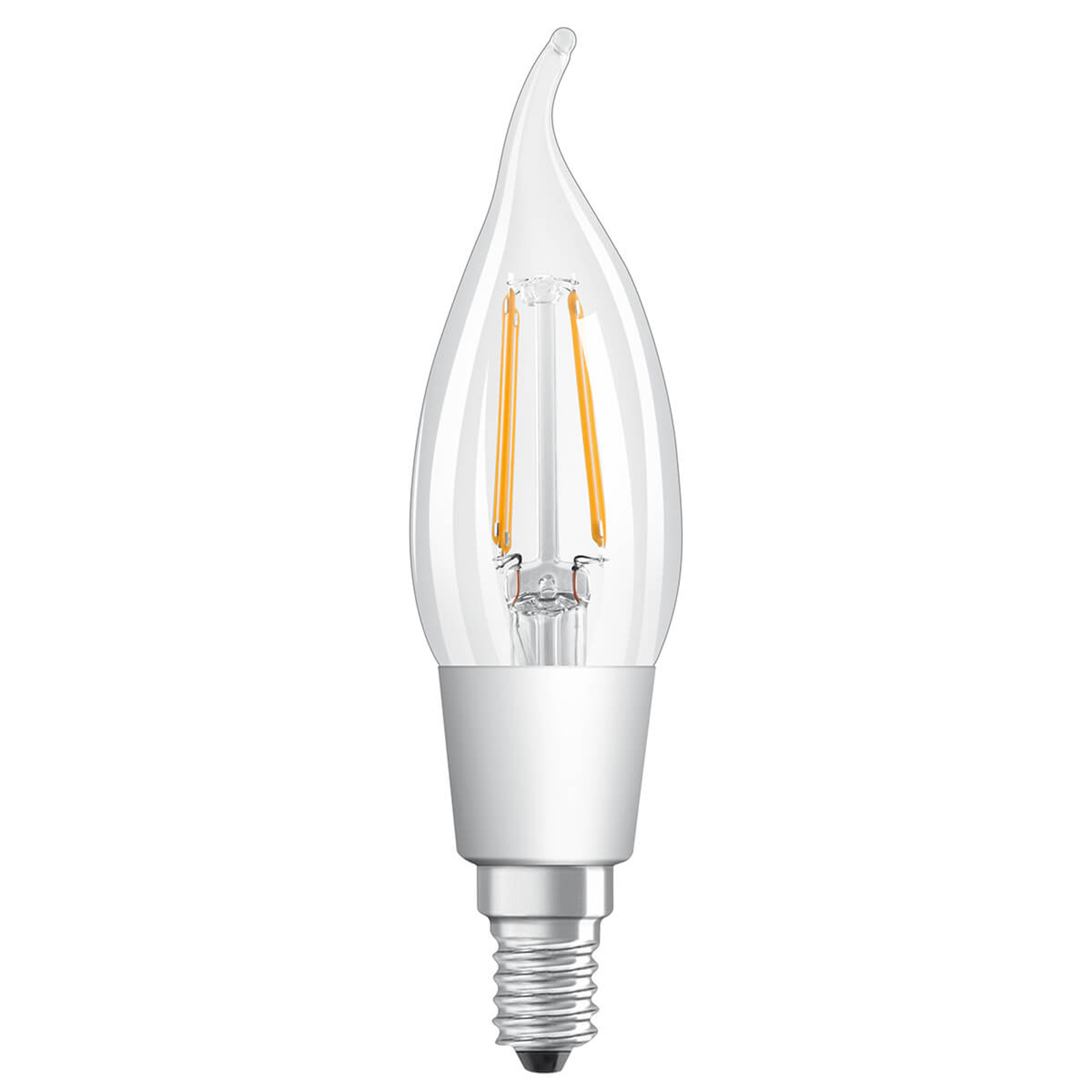 LED-vindkastpære E14 5W, varmhvit, dimbar, klar