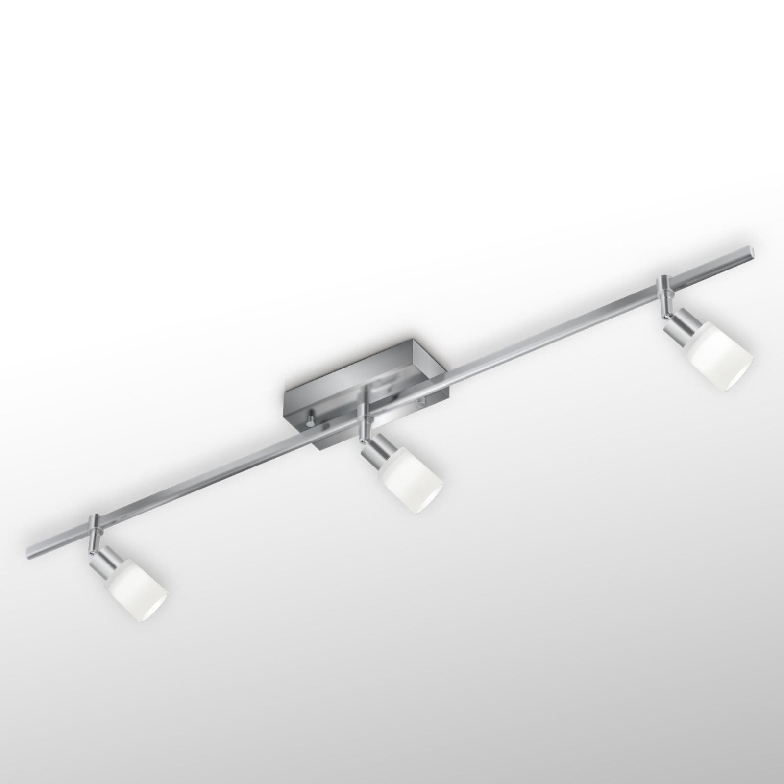 LED-taklampe Siara, nikkel, 3 lys, 2 900 K