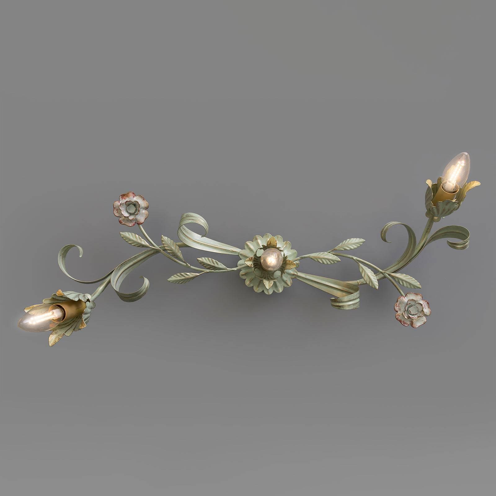 Florentiner Wandleuchte Tulipe, dreiflammig