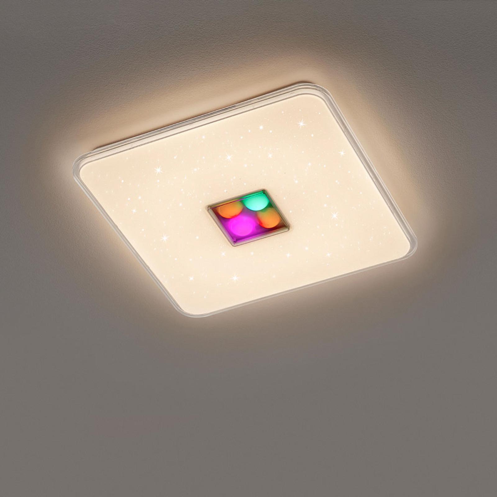 LED plafondlamp Ogasaki, RGBW, afstandsb., 42cm