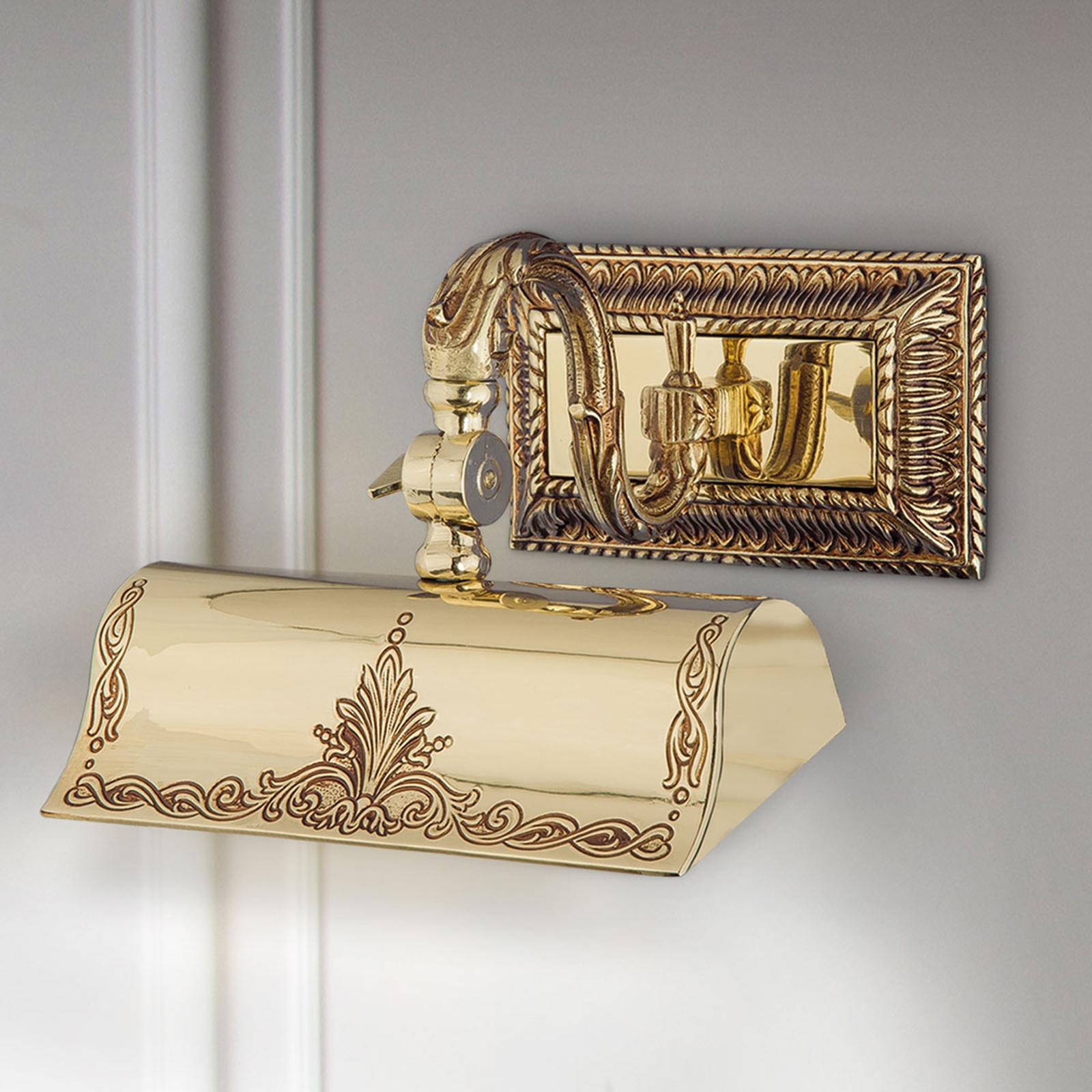 Tavelbelysning Capitel guld patinerad 20 cm