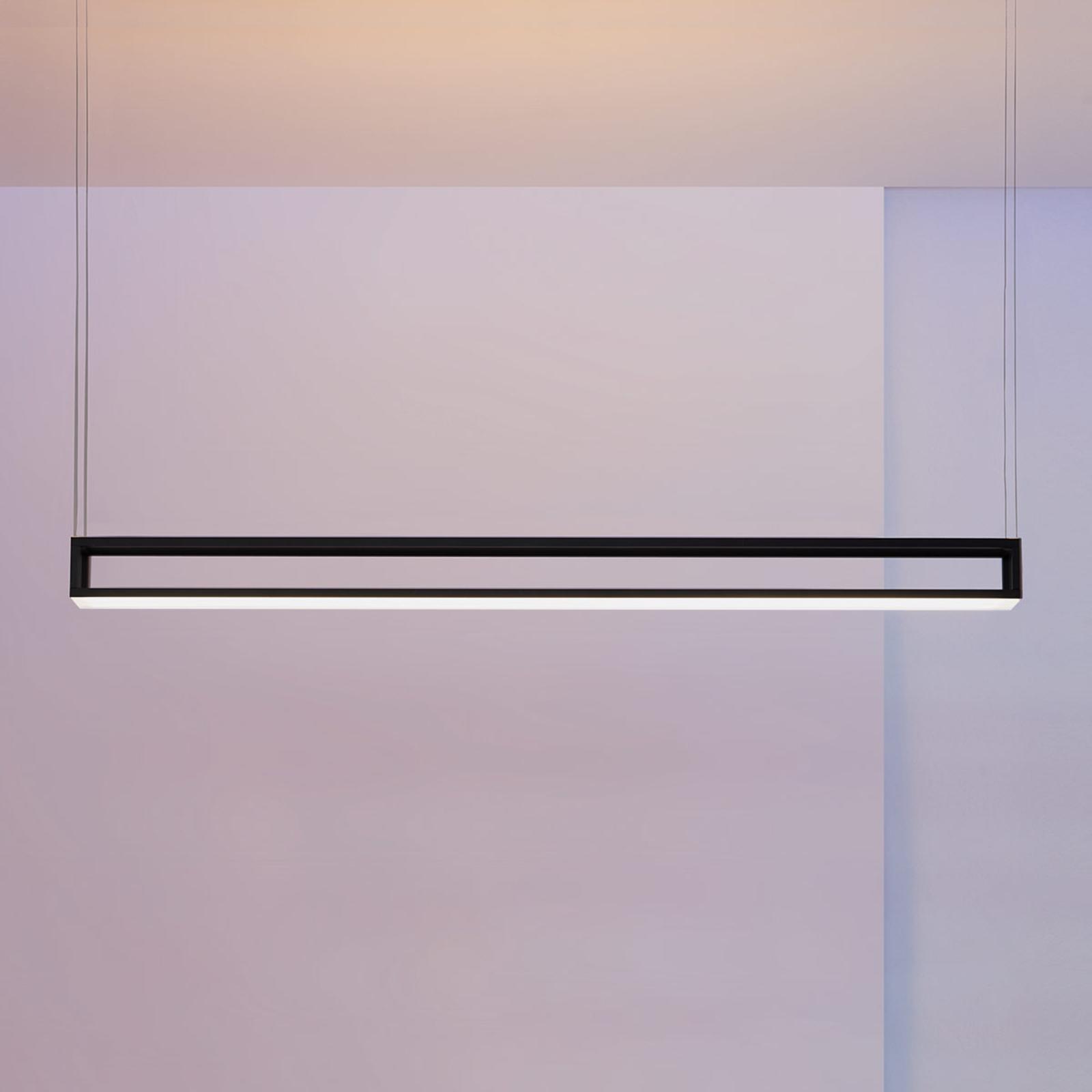 Escale Akio LED-hengelampe, svart lakkert