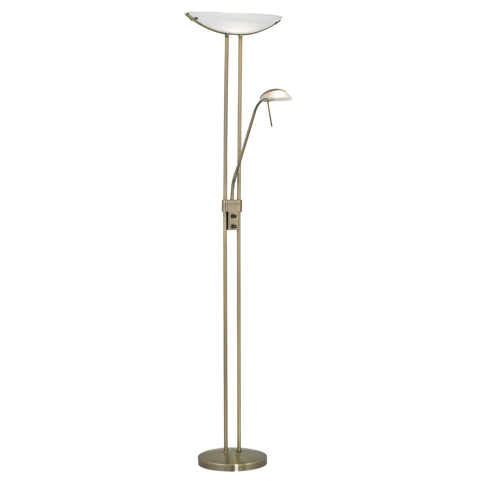 Elegancka lampa stojąca Baya oksydowana