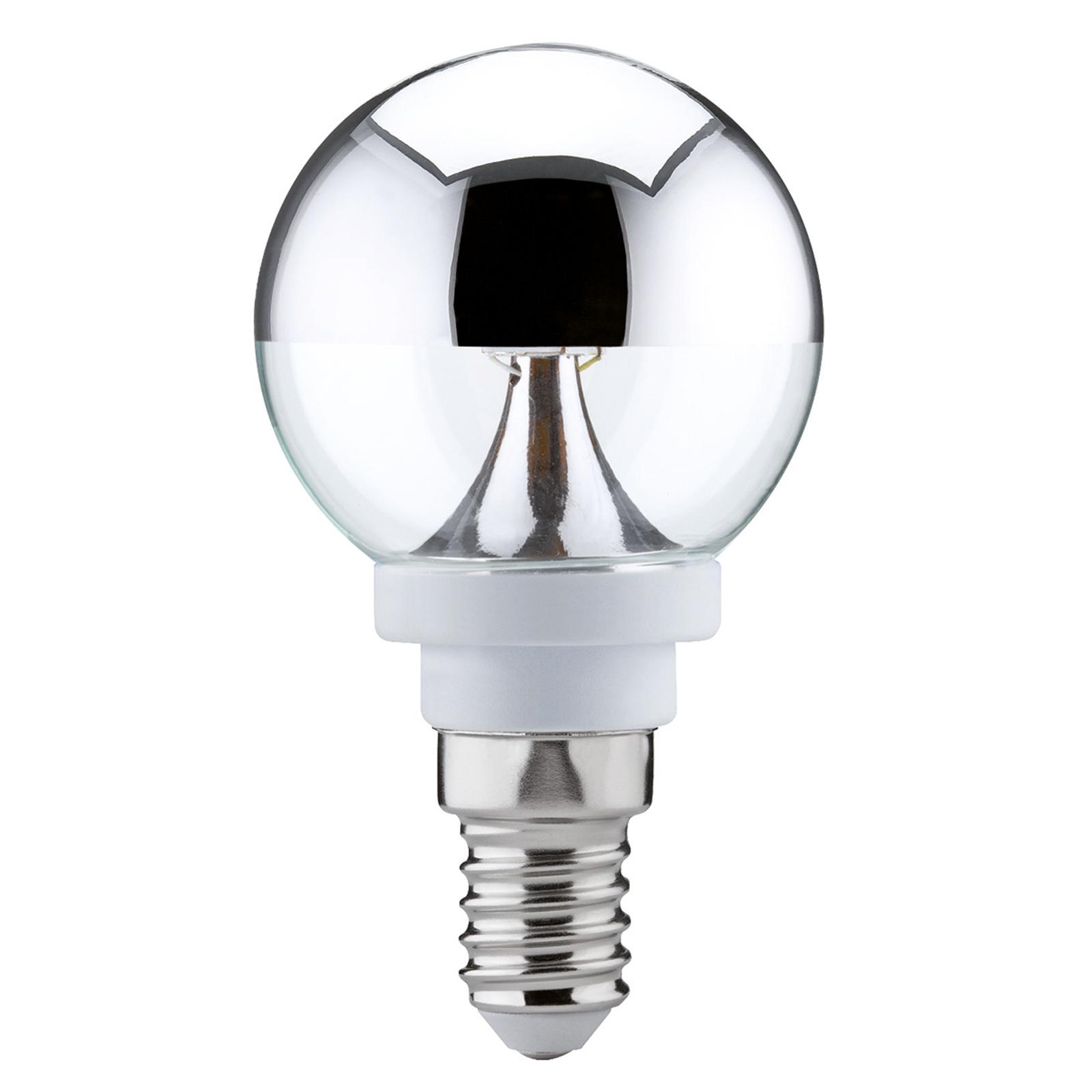 E14 2,5W 827 LED-Globe brillantata luce calda