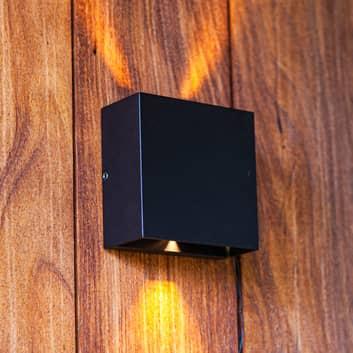Gemini Beams utendørs LED-vegglampe, matt svart