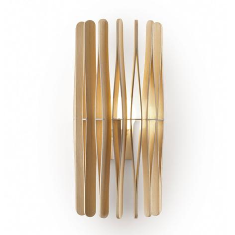 Fabbian Stick vägglampa i trä, cylindrisk