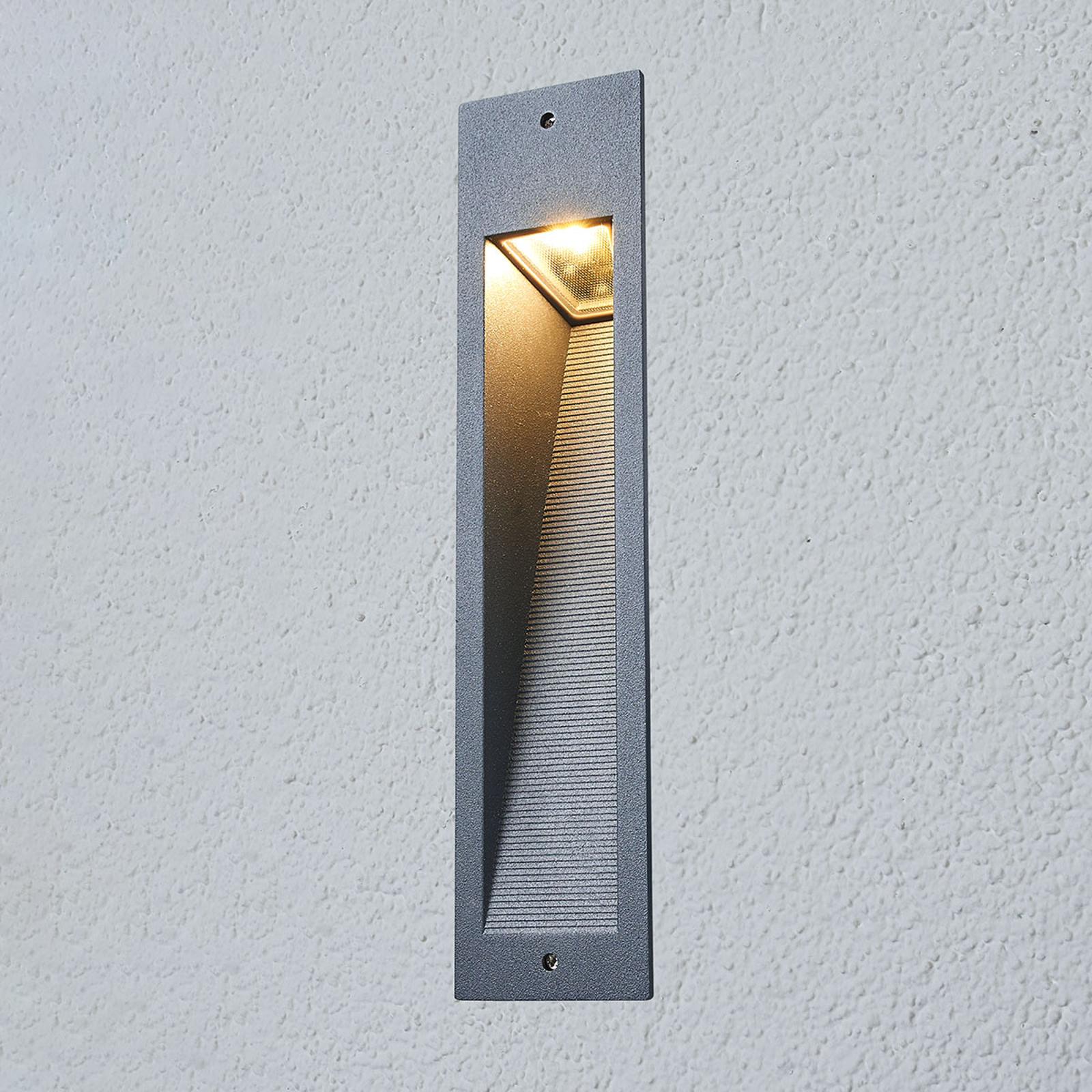 Bega – firkantet LED innfelt vegglampe 33108AK3