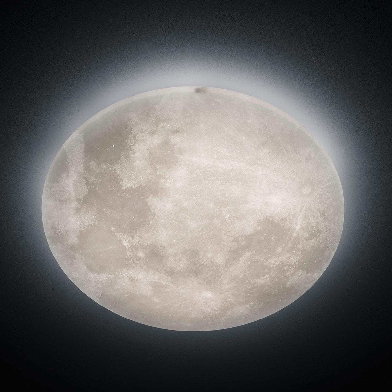 LED-loftlampe Lunar med fjernbetjening 60cm