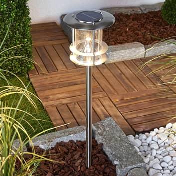 Sumaya - LED solcellelampe i rustfrit stål