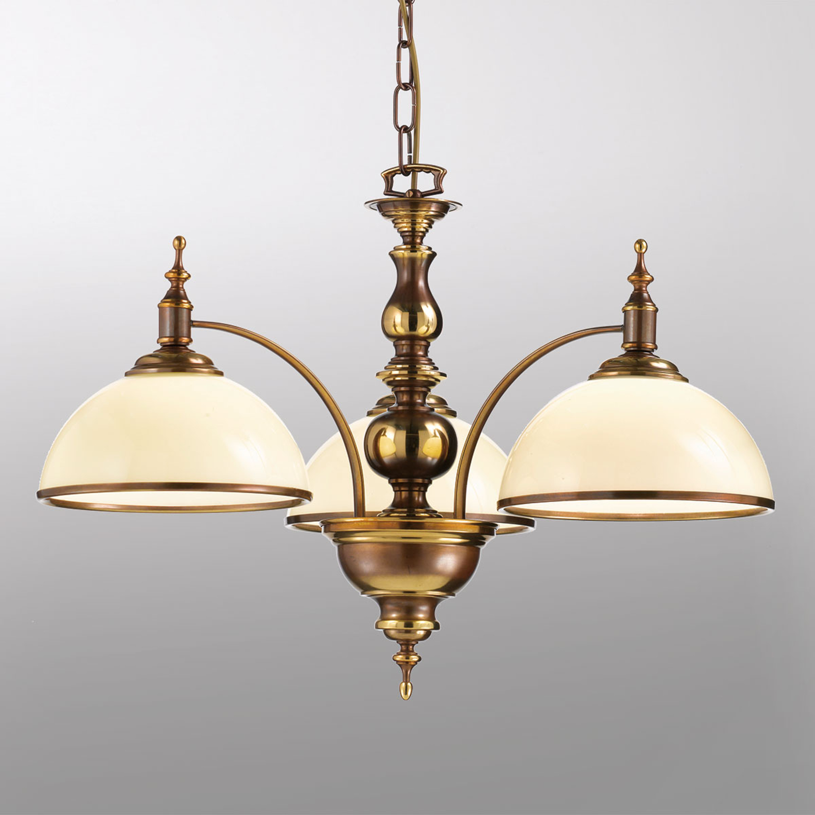 Antique-looking Corola hanging lamp, three-bulb_2008209_1