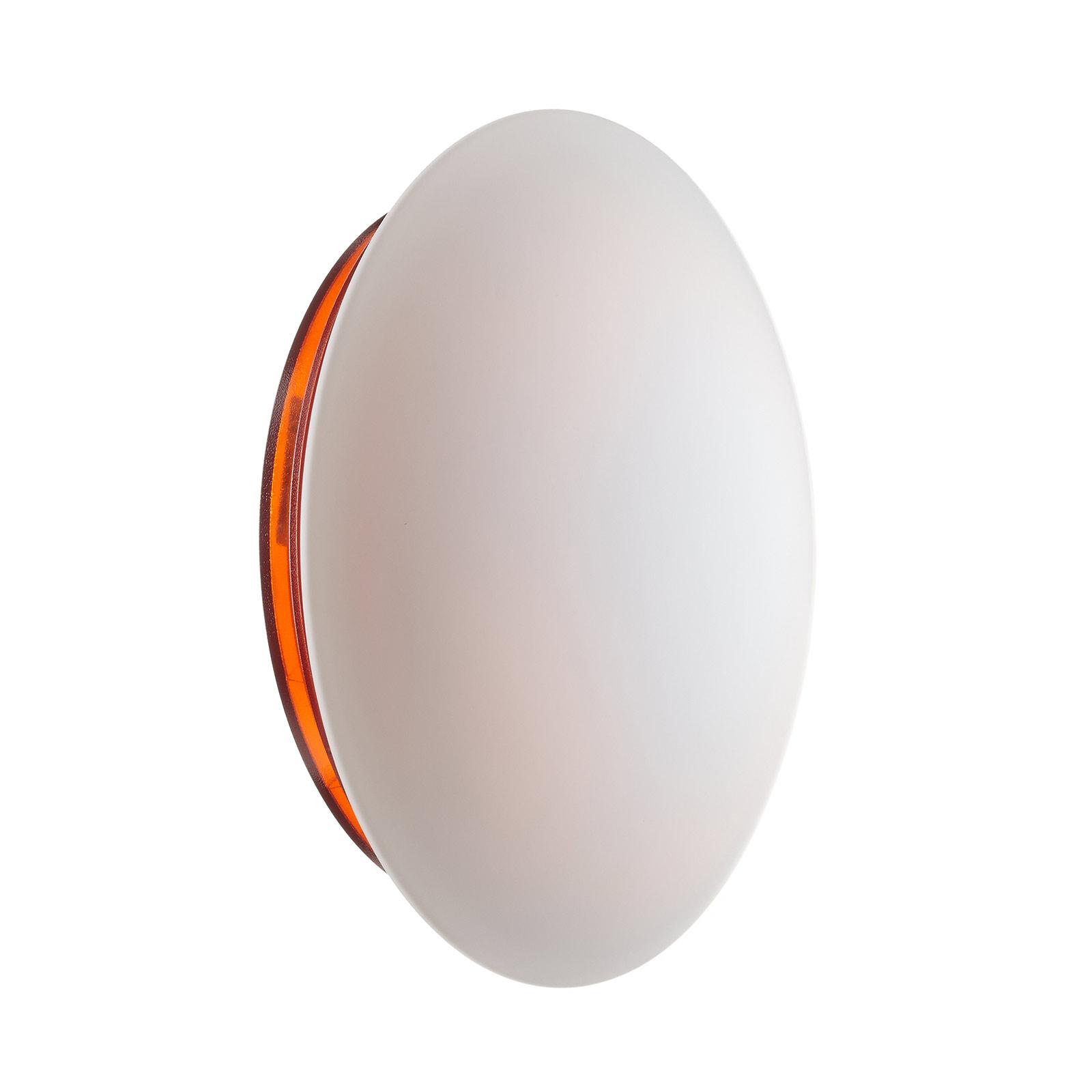 LED-Wandleuchte Bis IP44 mit orangefarbener Basis