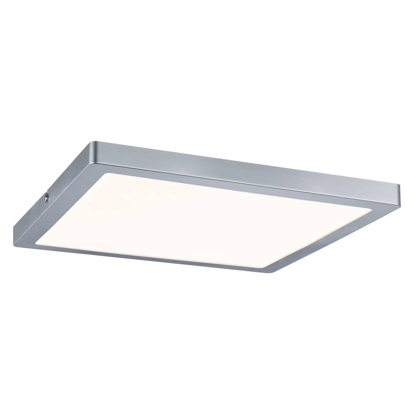 Paulmann Atria plafonnier LED 30x30cm chromé mat