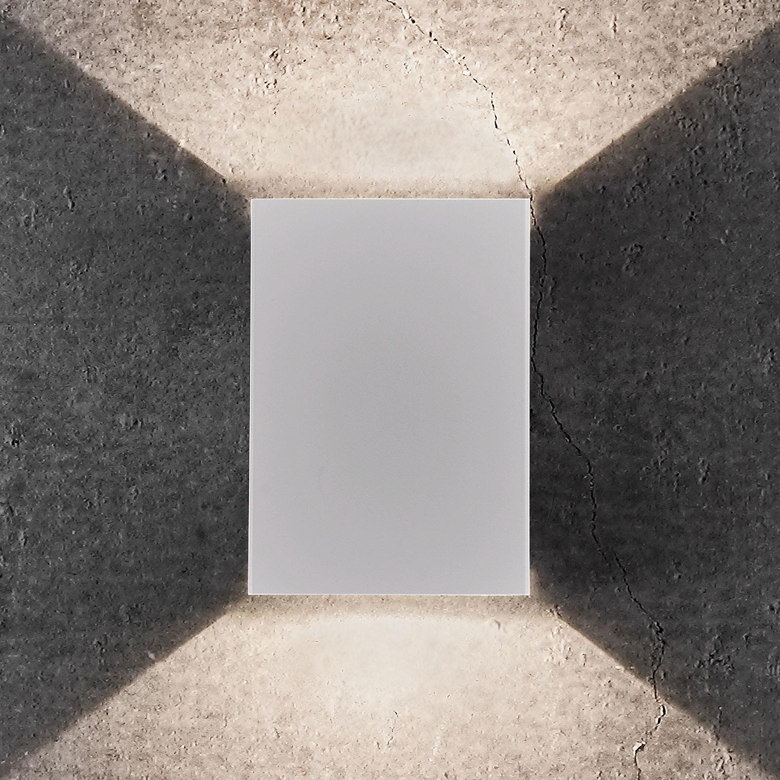 LED-Außenwandleuchte Fold, 10 x 15 cm, weiß