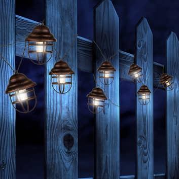 Catena luminosa solare Lina con 8 lanterne