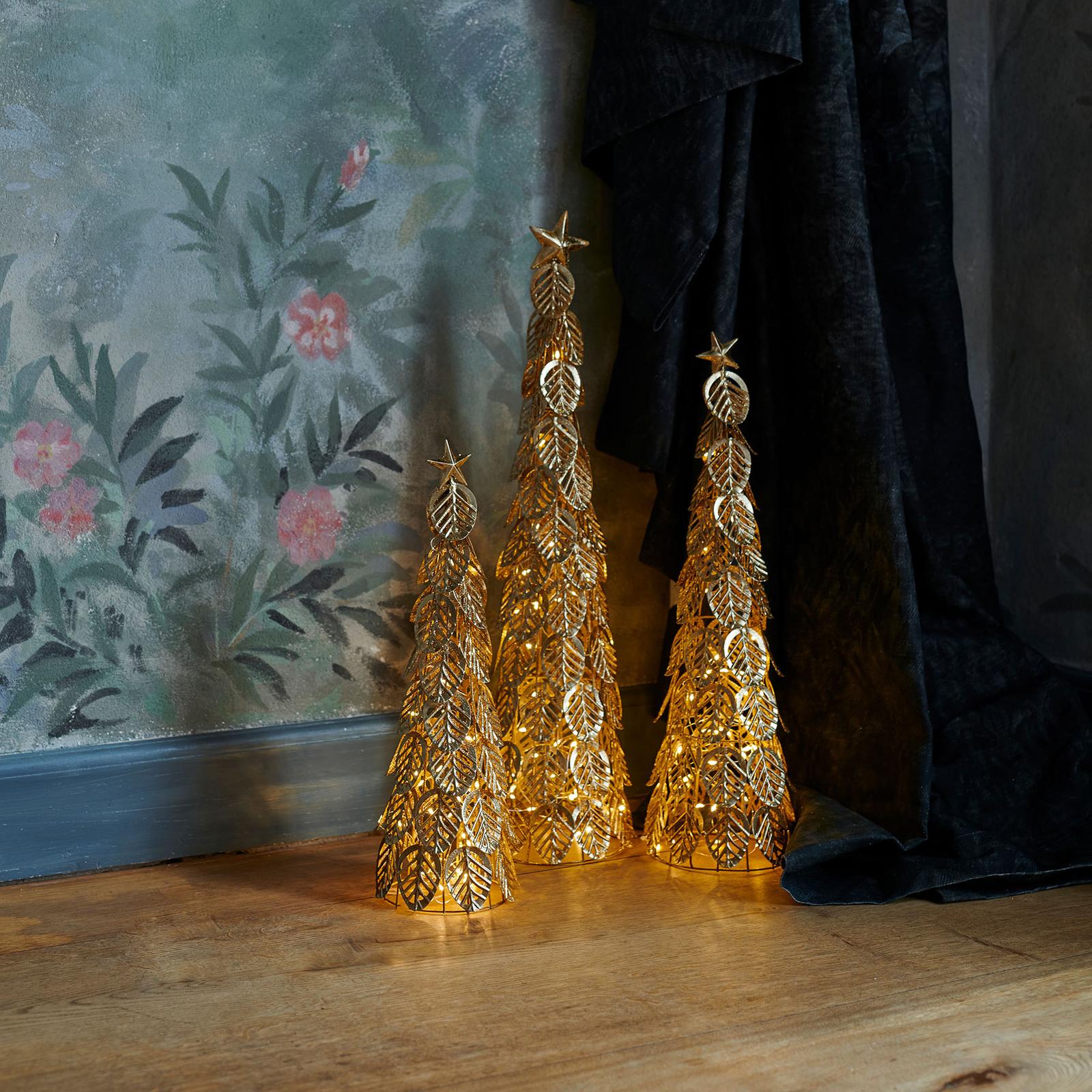 LED-Dekobaum Kirstine, gold, Höhe 43 cm