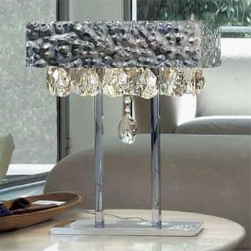 MAGMA bordlampe med krystalvedhæng, klar