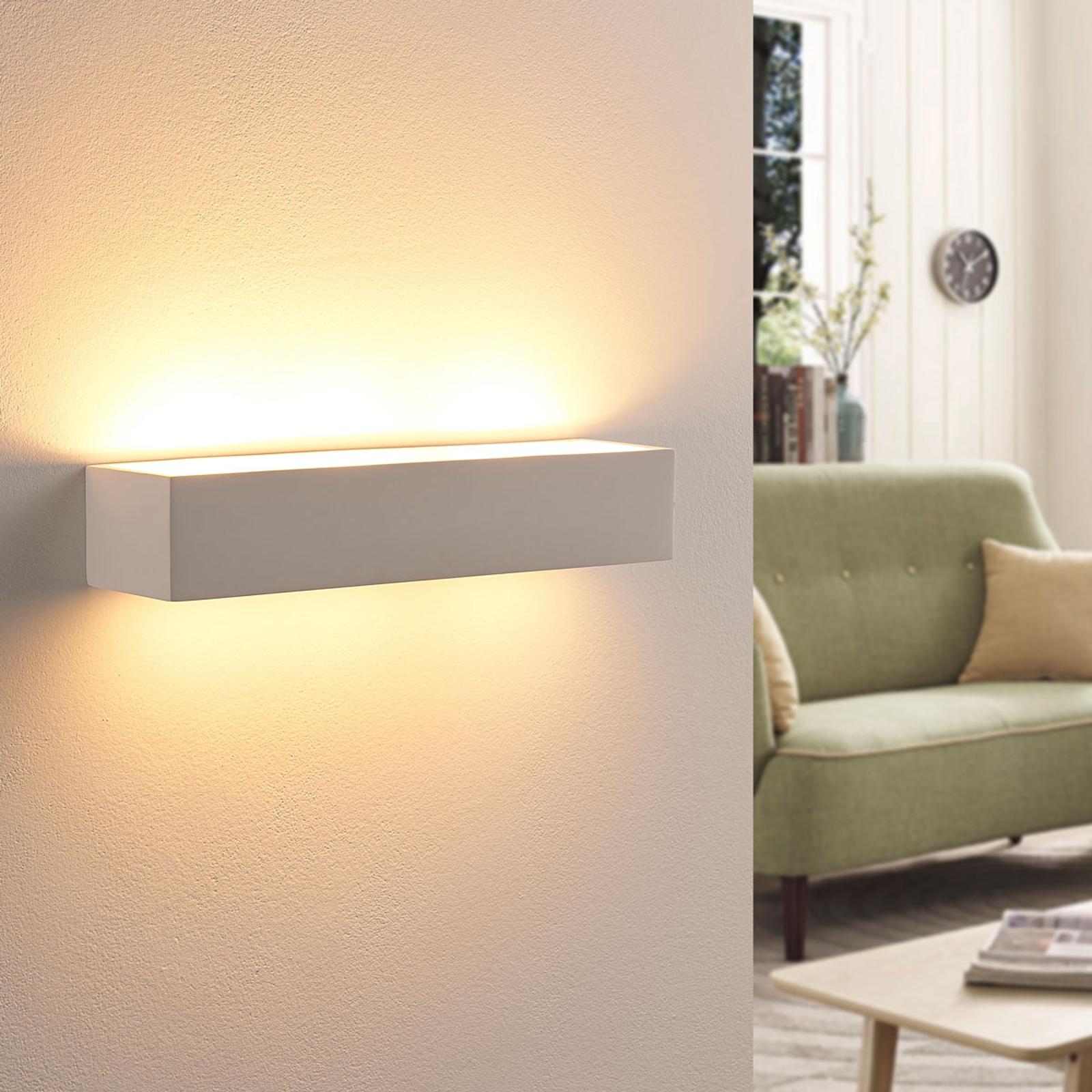 Arya – kinkiet LED easydim z białego gipsu