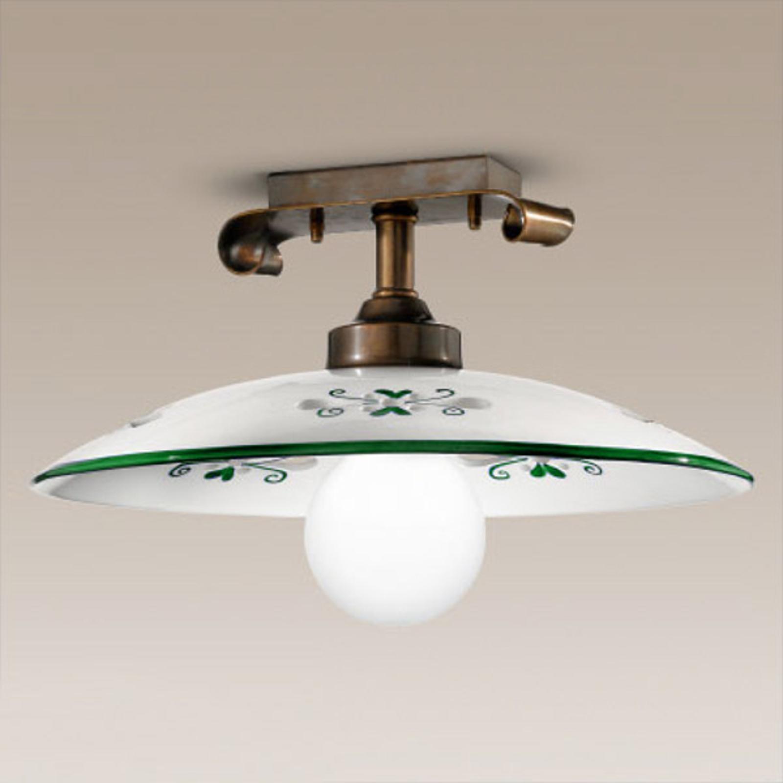 Vakker Bassano taklampe i grønt