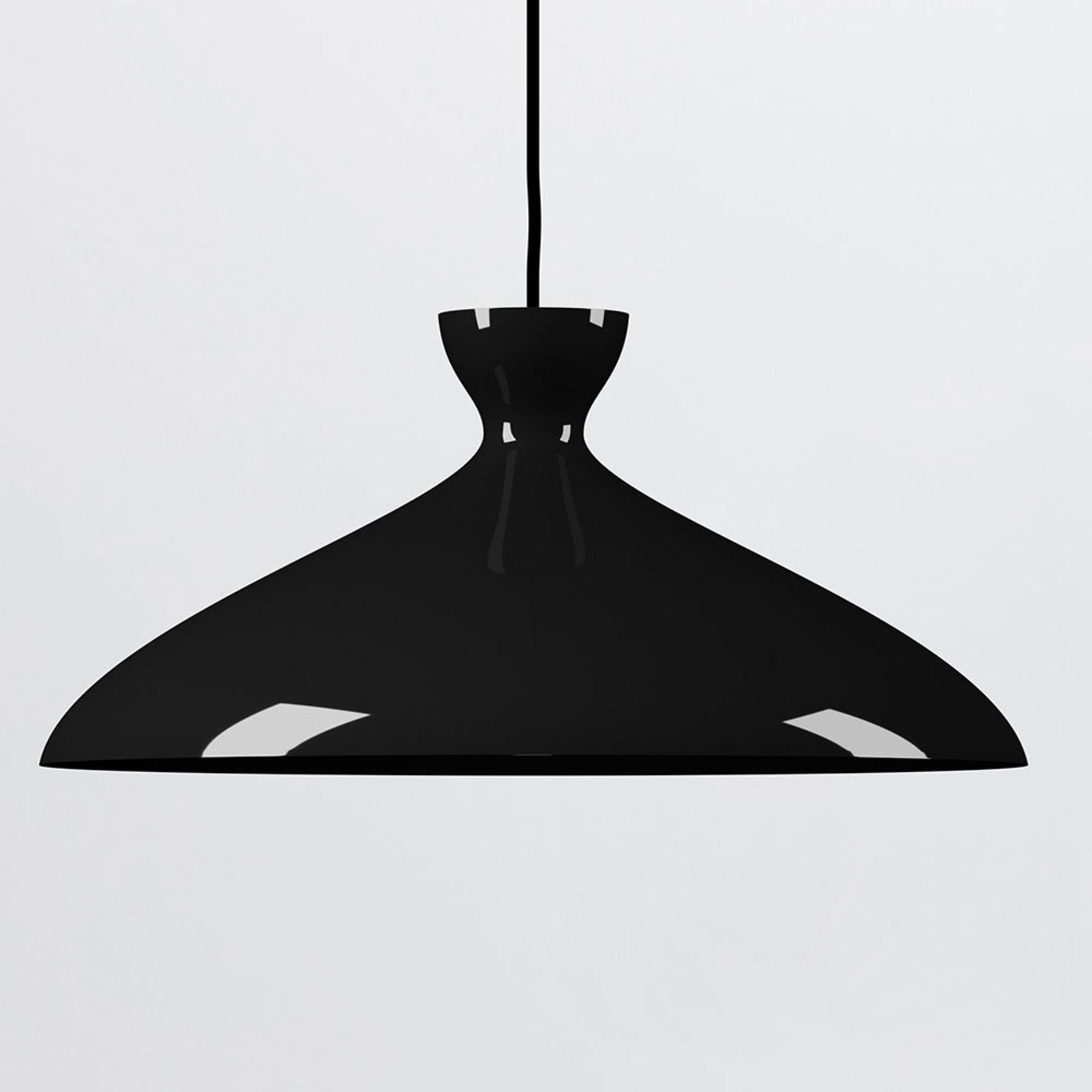 Nyta Pretty wide Hängelampe 3m, schwarz glänzend