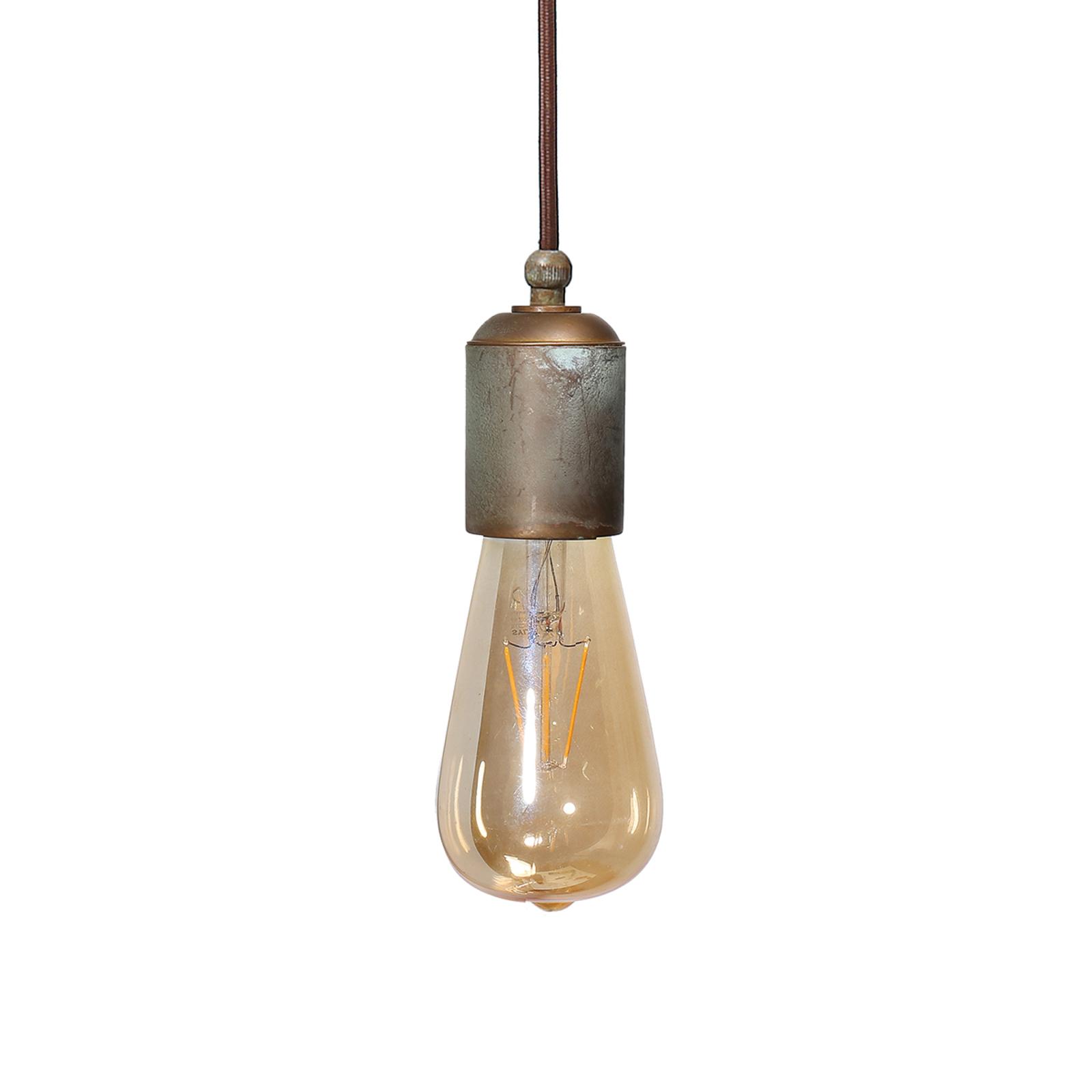 Lampa wisząca Allen, antyczny mosiądz, 1-punktowa