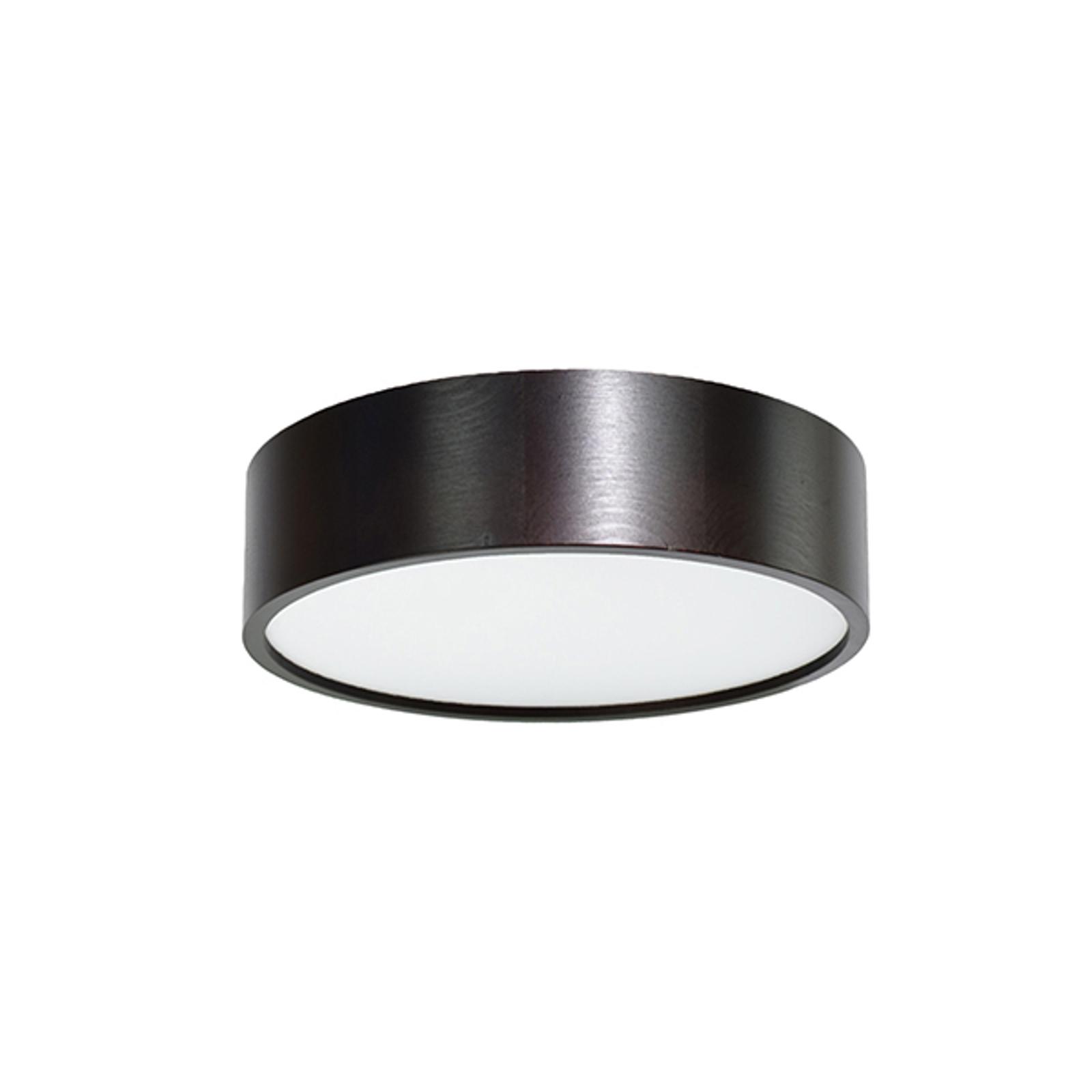 LED-taklampe Cleo, Ø28cm svart
