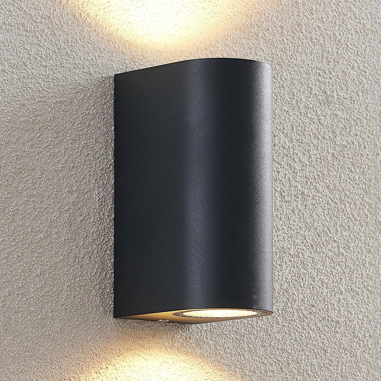 ELC Fijona LED outdoor wall lamp, round, 15 cm_9950875_1