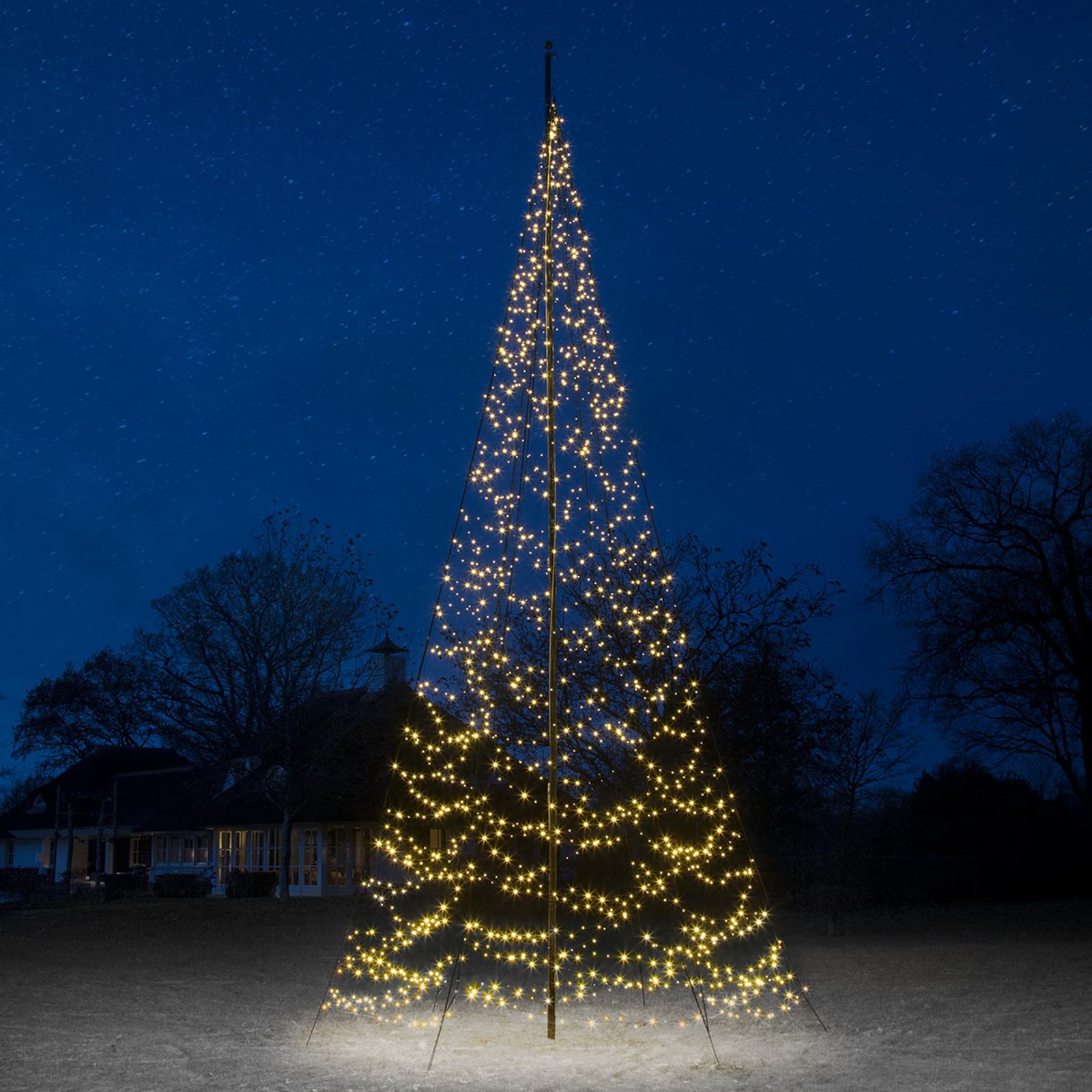 Fairybell® juletræ, 8 m, 1.500 LED'er, blinkende