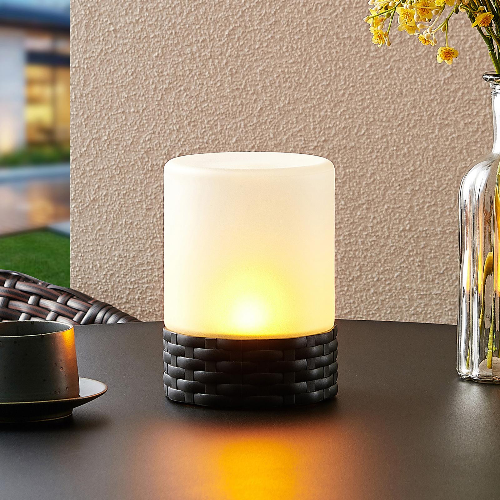Lindby Saquir solární dekorační svítidlo, plamen