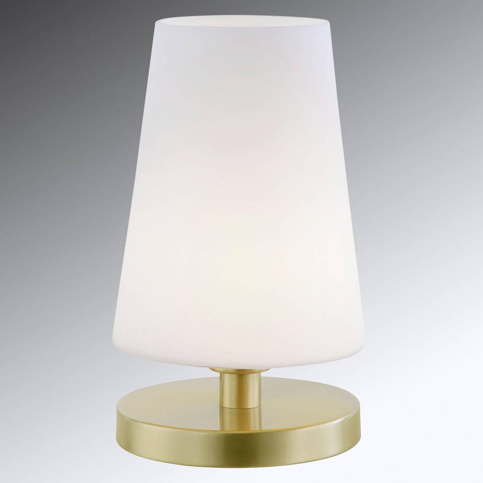 Dimbare LED tafellamp Sonja met glazen kap